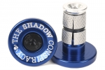 SHADOW DEADBOLT BAR ENDS BLUE