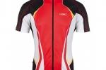 Μπλούζα Bicycle Line με κοντό μανίκι Shock -Κόκκινη