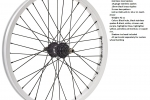 SHADOW STUN COMPLETE REAR WHEEL WHITE